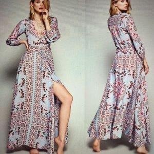 Floral Pandora Boho Gypsy Maci Gown Dress